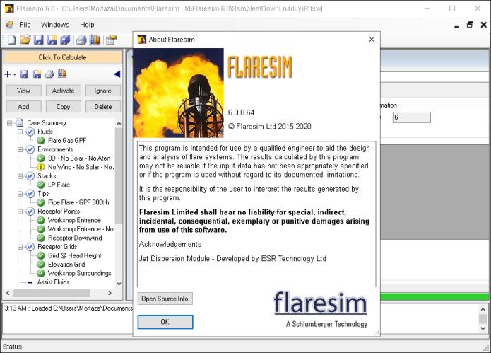 Working with Schlumberger Flaresim 6.0.0.64 full license