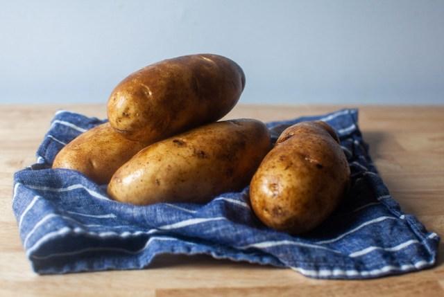 a few potatoes