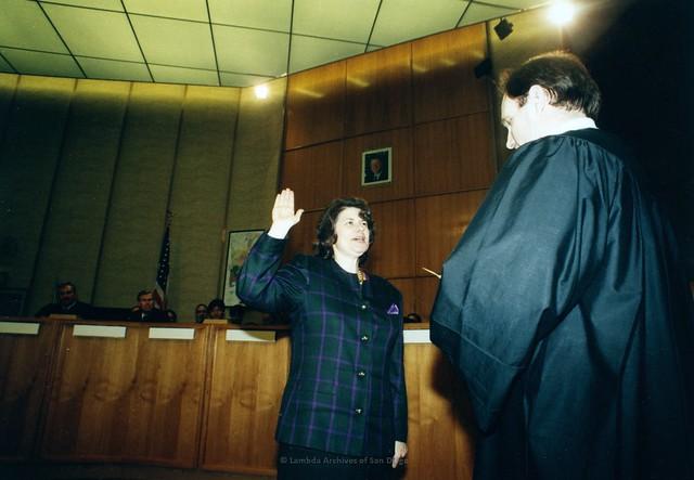 Bonnie Dumanis swearing in as Municipal Court Judge, San Diego 1994