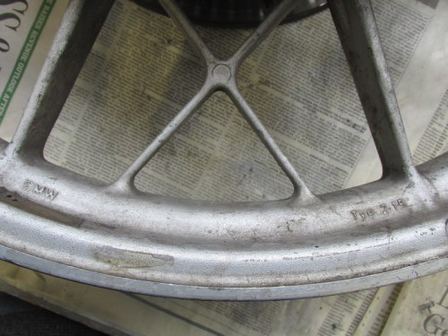 Front Wheel, Left Side Markings