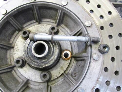 Front Disk Brake Rotor Bolt Detail