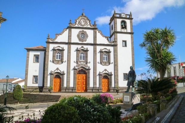 Iglesia de San Jorge en Nordeste en la isla de Sao Miguel