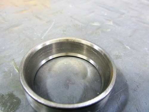 Front Wheel Bearing Outer Race Shows Wear And Scoring