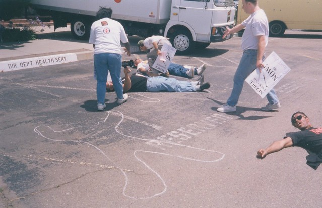 Act-Up die-in, 1992
