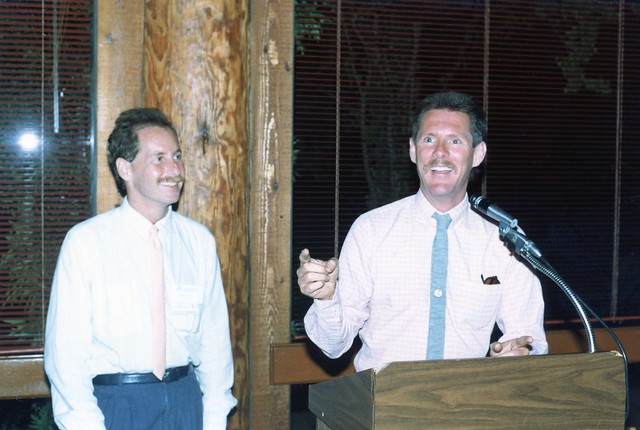 Randy Stone(left) and Albert Bell, n.d.