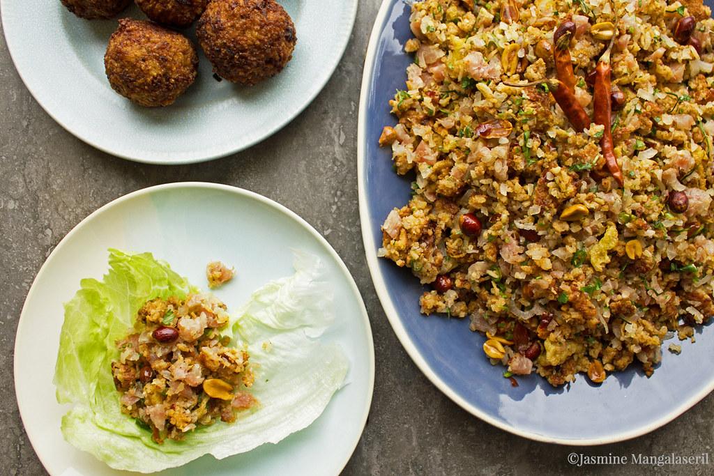 David Insixiengmay's Nam Khao (Lao Crispy Rice Salad)