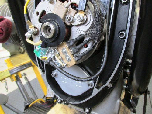 Optical Trigger Cable Routing From Trigger Assembly Around Stator Housing