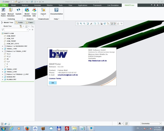 working with BUW SMARTColor for Creo Parametric 6.0 full