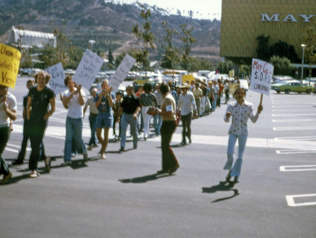 May Company Protests San Diego, 1974