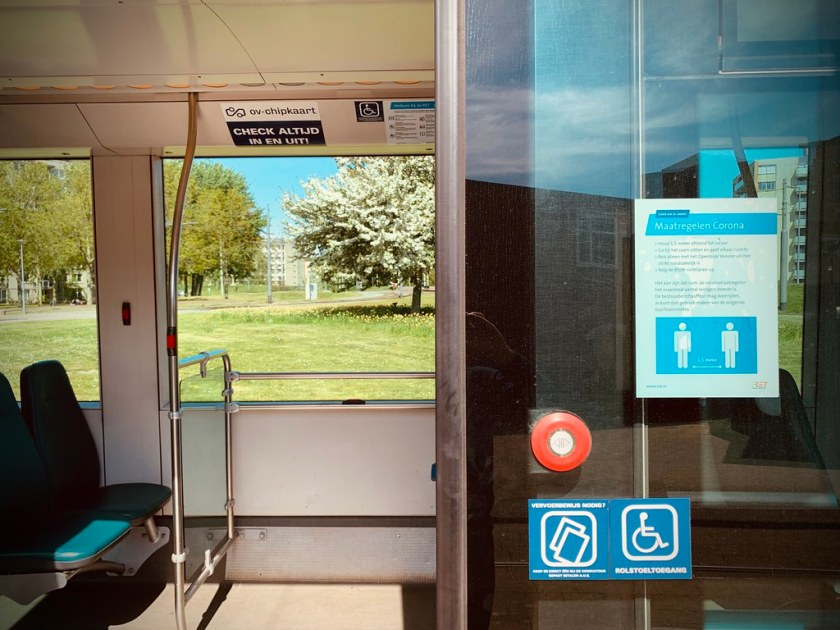 Rotterdam Daily Photo: Public transport is still running remotely for any distance ...