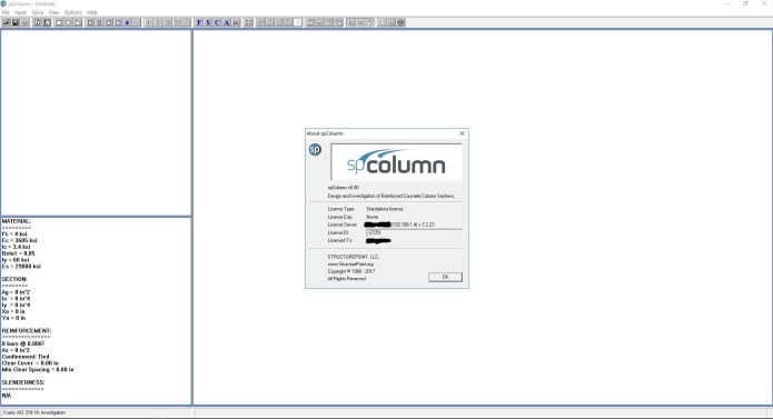 Working with StructurePoint spColumn 6.0 full license