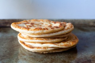 layered yogurt flatbreads