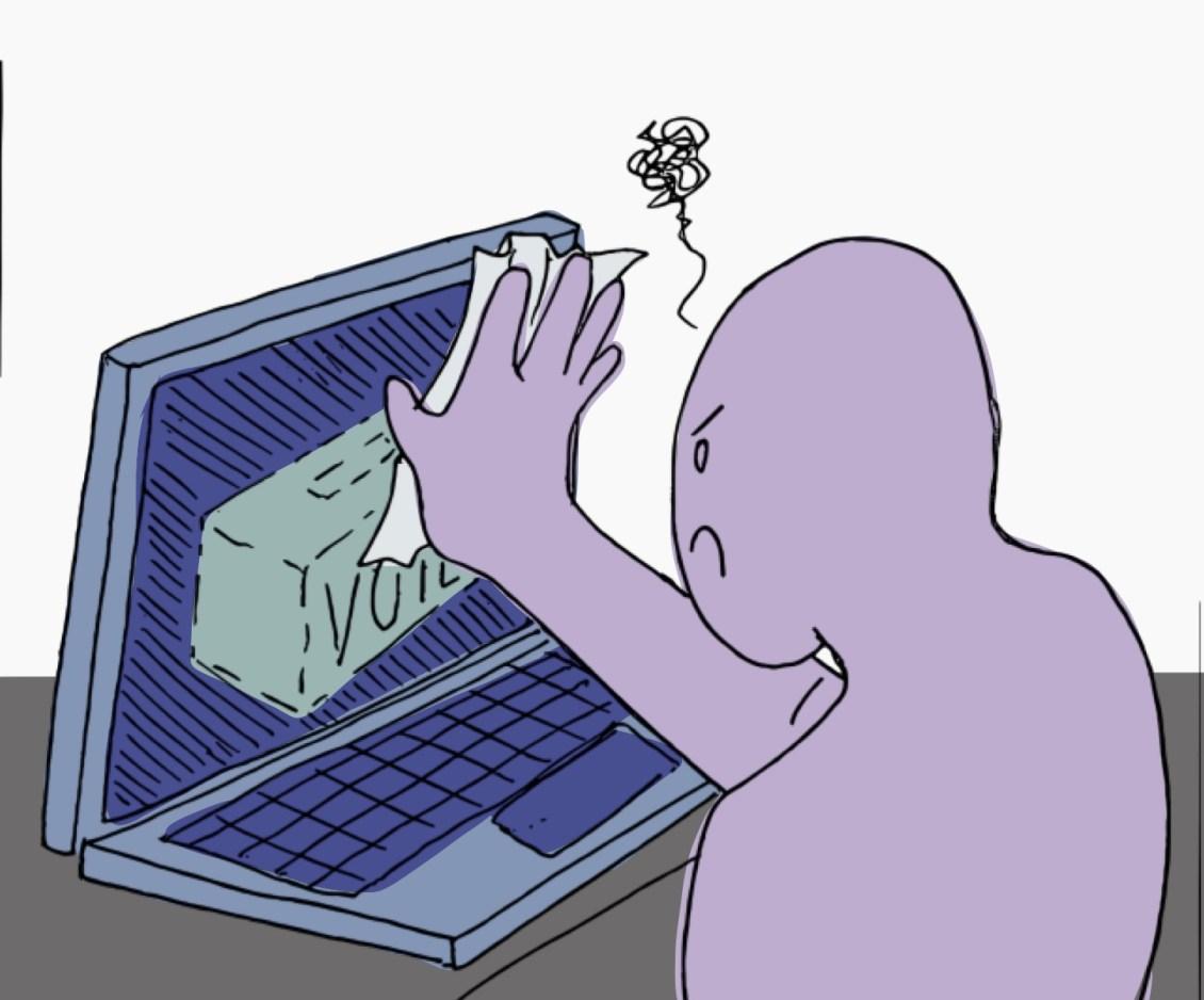 Politics online and via mail Illustration