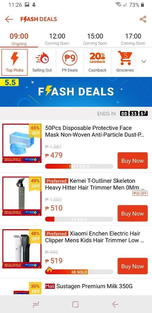 Shopee 5.5 Flash Deals