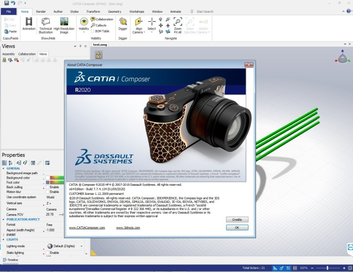 Working with DS CATIA Composer R2020 HF4 x64 full license forever
