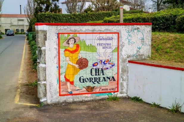 Entrada a la Plantaciones de té en São Miguel llamada Cha Gorreana