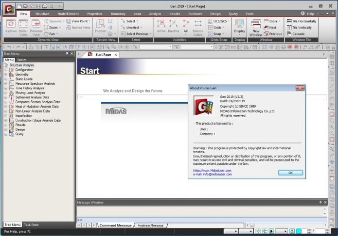 Working with midas Gen 2019 v2.2 full license