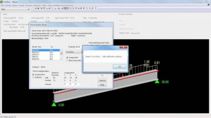 Working with Bentley RAM SBeam CONNECT Edition v6.00.00.33 full