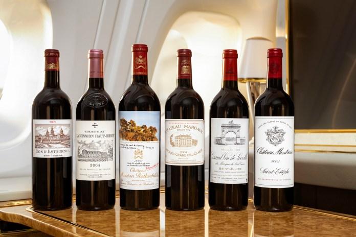Emirates wine selection