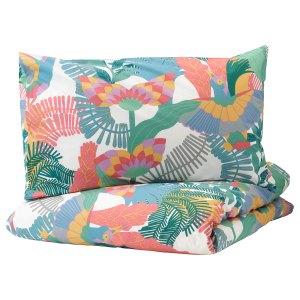 SKOGSFIBBLA Duvet Cover and Two Pillowcases Muticolour