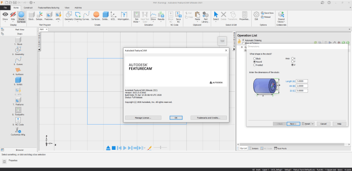 Working with Autodesk FeatureCAM Ultimate 2021 x64 full license