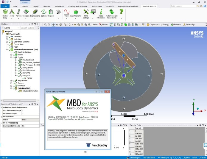 Working with FunctionBay Multi-Body Dynamics for ANSYS 2020 R1 full