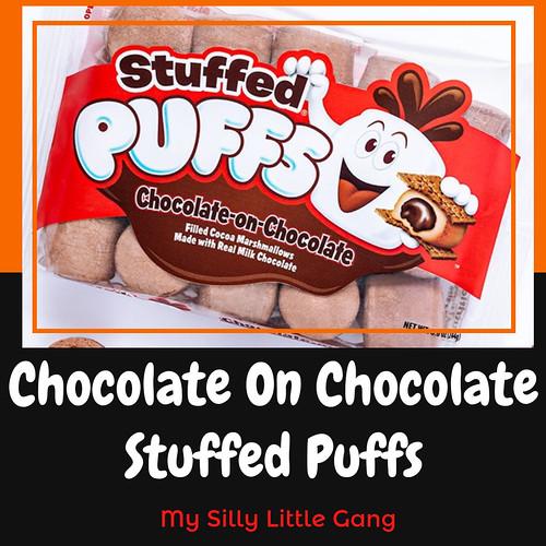Chocolate On Chocolate Stuffed Puffs #marshmallow #smores @stuffedpuffs #MySillyLittleGang