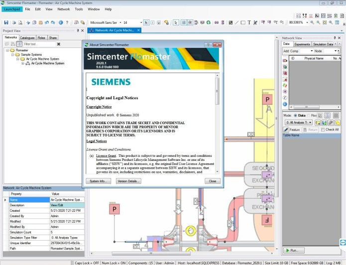 Working with Siemens Simcenter Flomaster 2020.1 full license