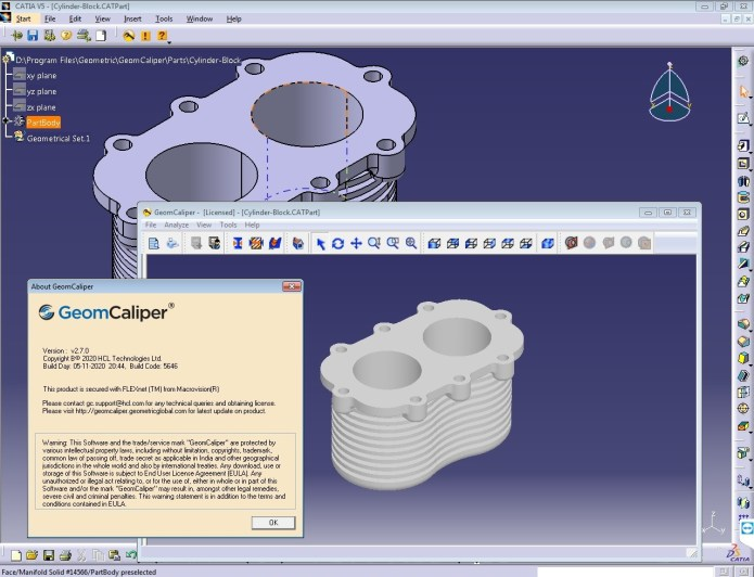 Working with Geometric GeomCaliper 2.7.0 for CATIA V5R26-R30 full crack