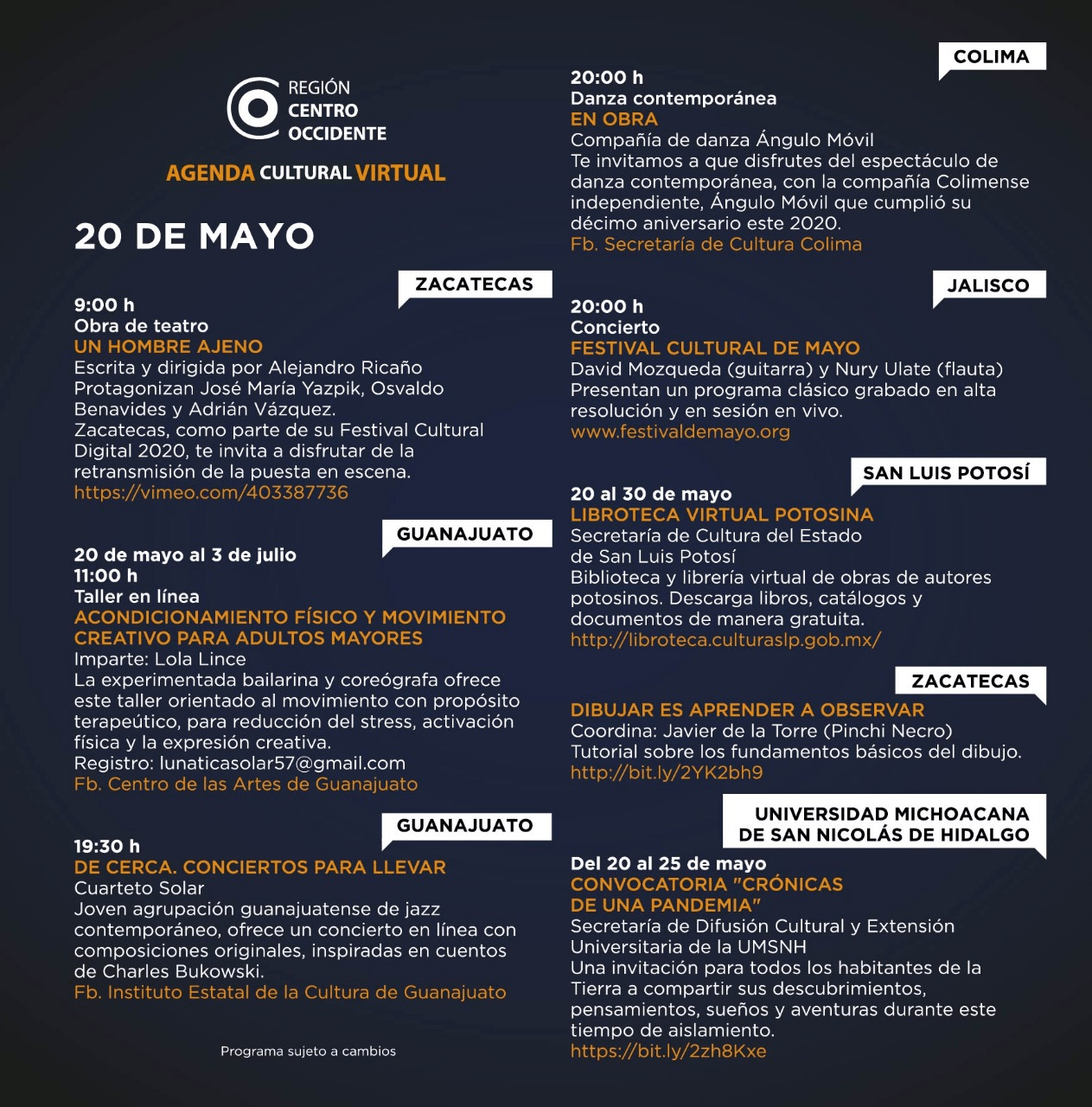 Agenda Centro Occidente 3