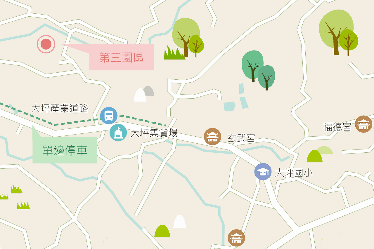 Kao's Hydrangea Fields Map