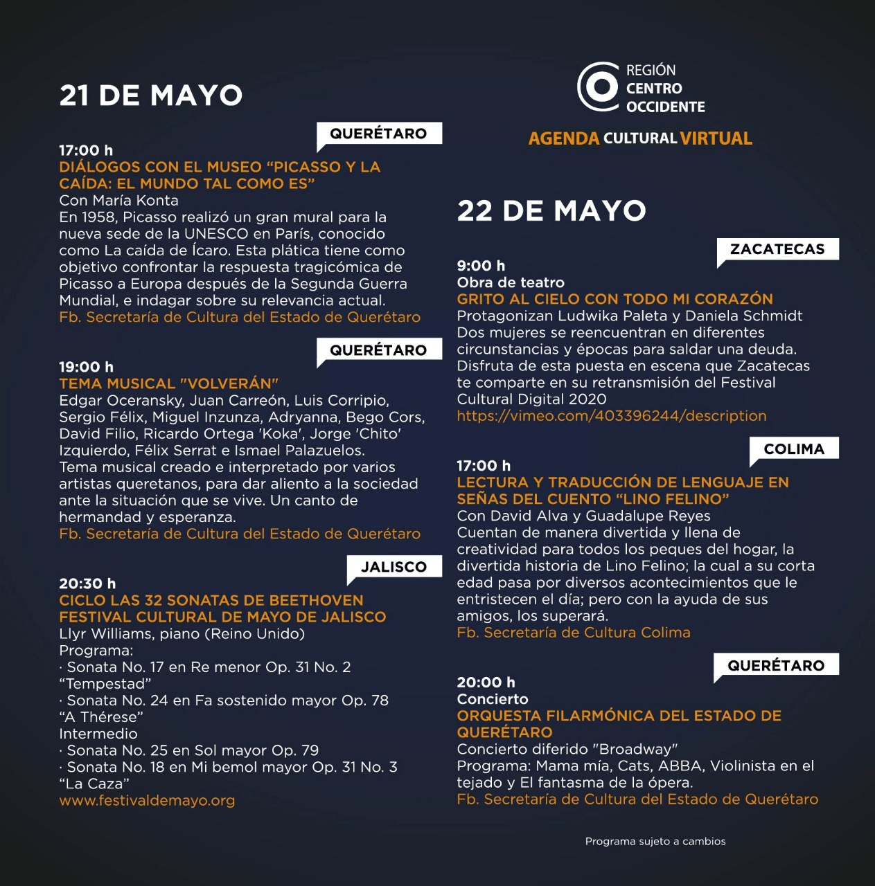 Agenda Centro Occidente 6