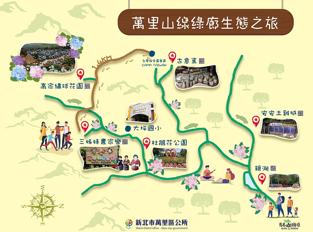 Wanli District Viewpoints Map