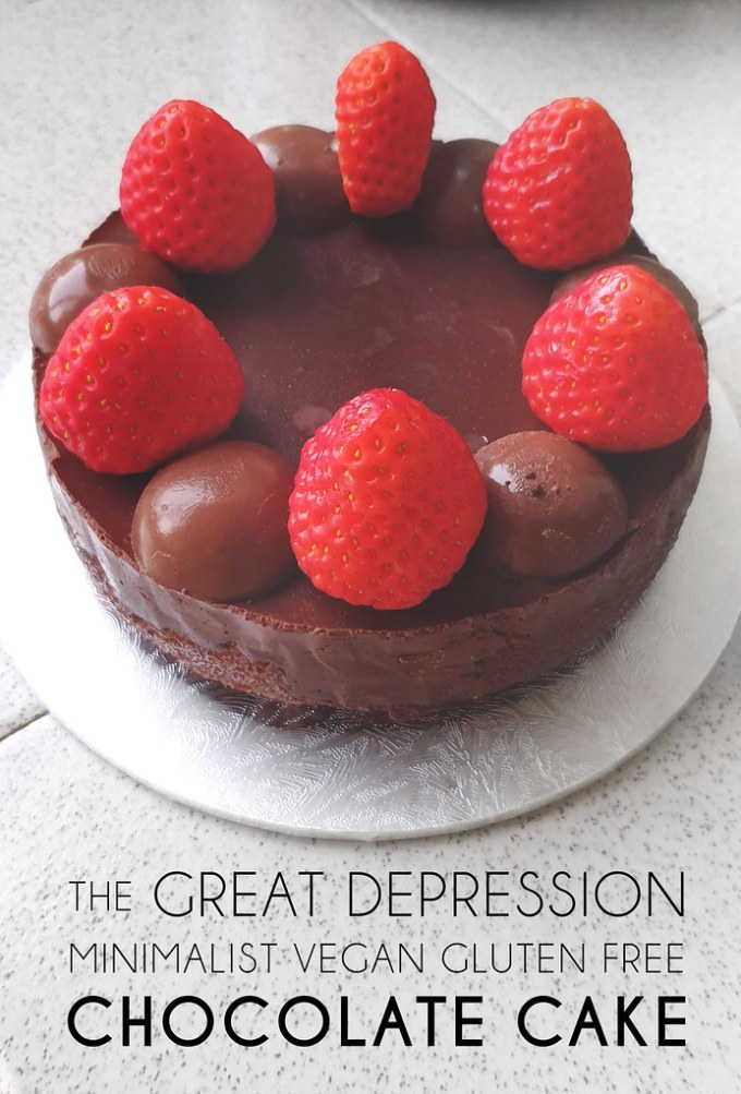 Great Depression Chocolate Cake (Vegan, Gluten Free)