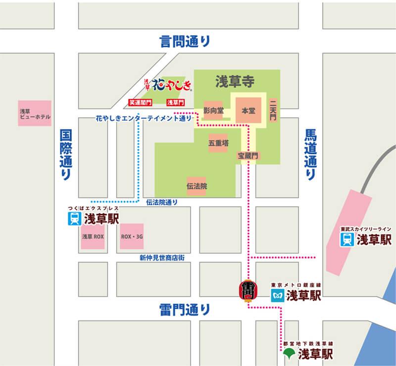 淺草花屋敷 地圖