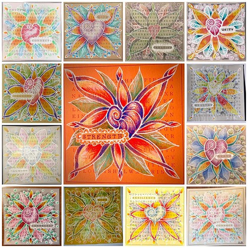 """""""Zentangle Unity Glow Tile"""" class tiles"""