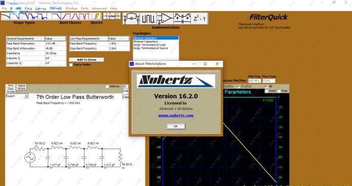 Working with Nuhertz Filter Solutions 2019 v16.2.0 full license
