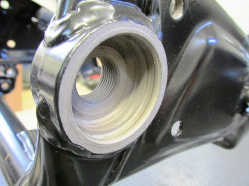 Swing Arm Pivot Bolt Screw Threads In The Frame
