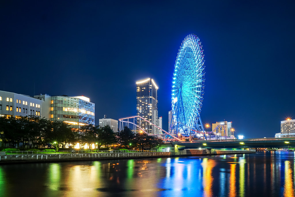 Cosmo Clock 21 (Ferris Wheel), Yokohama at Night : コスモクロック21