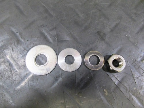 Right Rear Shock Mounting Hardware Detail