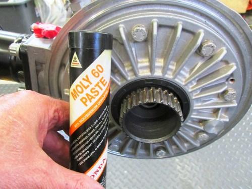Moly-60 Paste Lubricates Rear Wheel Splines