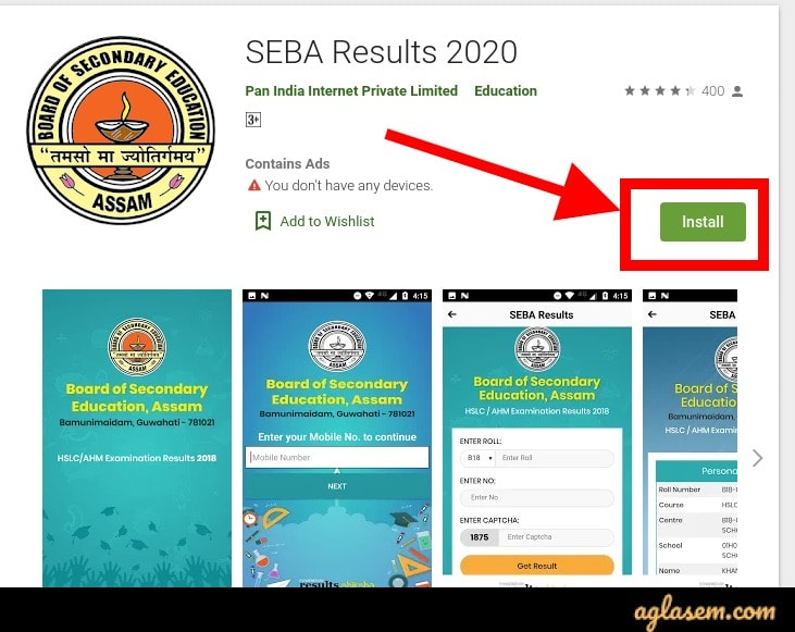 SEBA HSLC/AHM results