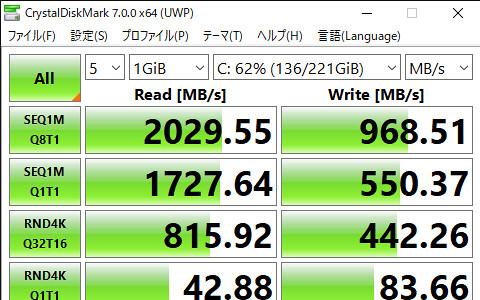 CrystalDiskMark 7.0.0 x64 (UWP) 2020_05_27 18_42_22