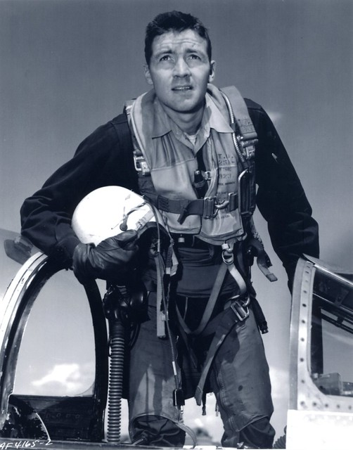 John Boyd Climbing out of F-86 Cockpit, circa 1953