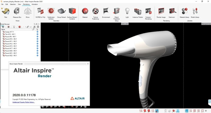 Working with Altair Inspire Render 2020.0 Build 11178 Win64 full license