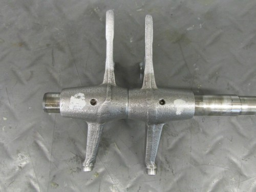 "Output Shaft Shift Forks-Note ""Bottom"" Shift Fork Arm Has A Slight Bend"