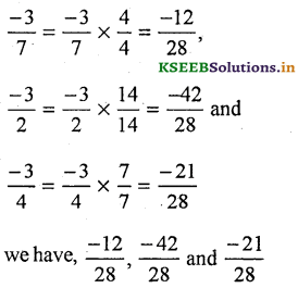 KSEEB Solutions for Class 7 Maths Chapter 9 Rational