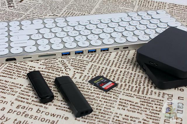 Kolude Keyhub 九合一集線鍵盤 超級鍵盤整合擴充底座 USB 讀卡機 外接螢幕功能 超強大 @旅咖543