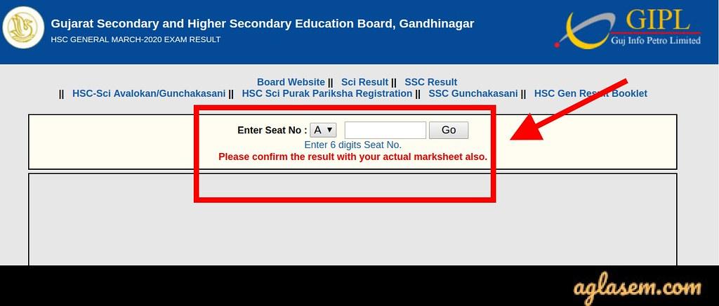GSEB HSC General result 2020