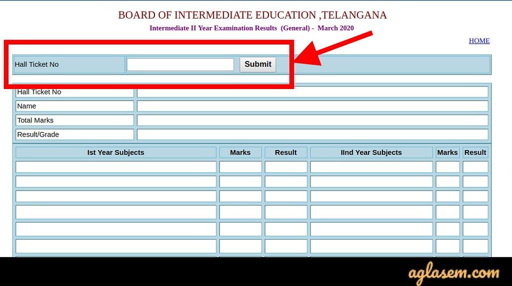 TS Intermediate 2nd year result 2020